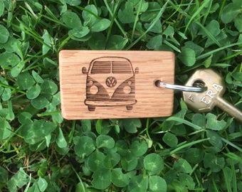 Campervan Oak key Ring