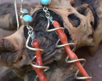 Caged Coral Earrings