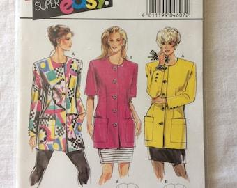 Burda 4607 UNCUT New Misses Size 10, 12, 14, 16, 18, and 20 Jacket Pattern
