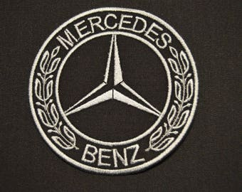 mercedes embroidered badge
