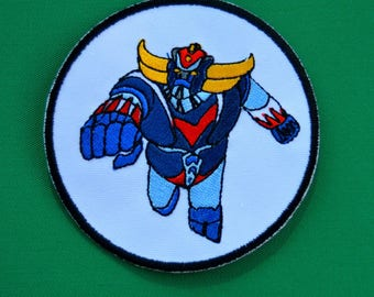cartoon goldorak embroidered patch
