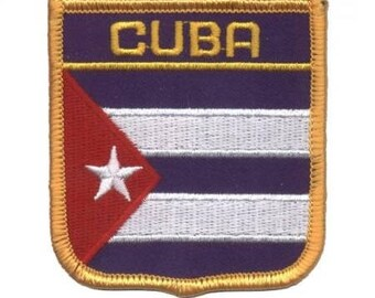 Cuba Patch - Iron on, Made in USA
