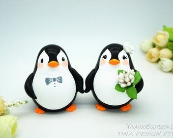 Penguin Wedding Cake Toppers-Love Bird Wedding Cake Toppers