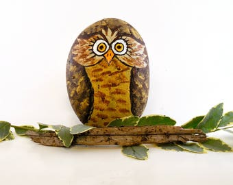 Owls! Raptor Eyes! Dragon Eye on Smooth Rock & Lots of Imagination = The Original Fidget, Fits in the Palm of Your Hand