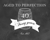 Custom Add on-- Aged to Perfection - 40th Birthday Digital Download - Personalized Invitation