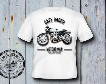Ace Of Spades Cafe Racer T Shirt, Mens, Motorbike, Biker, Retro, Classic, Gift, Classic, 16