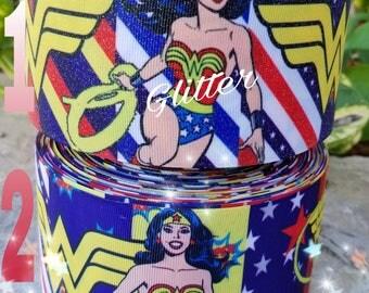 Wonder woman ribbon, wonder woman resins,  wonder woman,  ribbon, embellishments