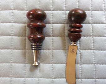 Resin Wine Stopper with Cheese Knife