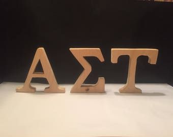 Blank wooden alpha sigma tau letters