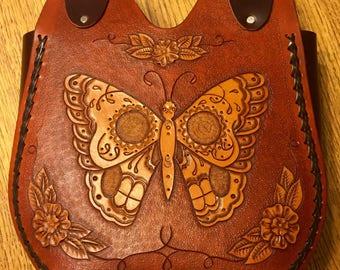 Skullerfly Tooled Leather Purse