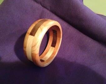 Wood bangle bracelet #8
