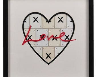 Love Xxx Heart Frames by VINTAGE PLAYING CARDS