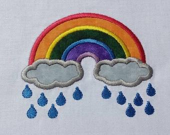 Rainbow Applique 4x4 embroidery design