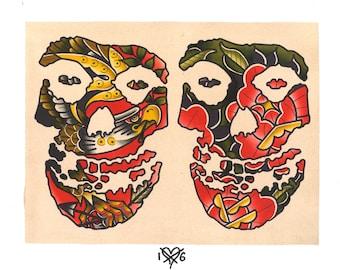 Misfits Crimson Ghost Tattoo Flash Sheet