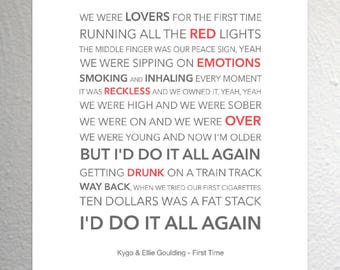 Ellie goulding lyric | Etsy