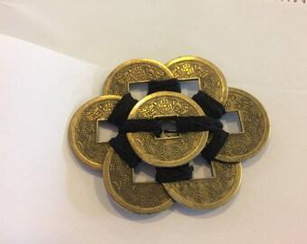 Hand Sewn Feng Shui Good Luck Coins