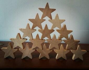 Stacking Stars, Loose Parts, Reggio Emilia, Montessori
