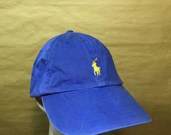 Vintage Small Pony Polo Ralph Lauren Adjustable Leather Cap