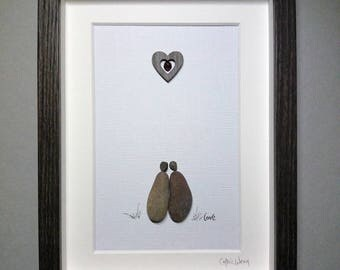 Love....a romantic pebble art gift from Ireland.