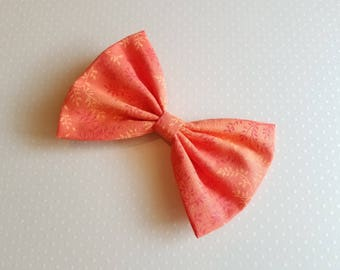 Girls Orange Fabric Hair Bow, Orange Bow, Girls Hair Bow, Girls Bow, Toddler Bow, Fall Hair Bow, Girls Hair Clip, Girls Barrette