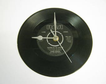 """Kenny Rogers """"Islands In The Stream"""" Special Unique 7"""" Vinyl Record Wall Clock Gift/Present"""