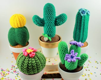 Pink Crocheted Barrel Cactus
