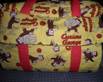 Diaper Bag & Changing Pad made from Curious George Fabric