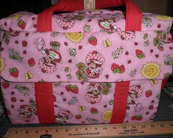 Diaper Bag & Changing Pad made with Strawberry Short Cake