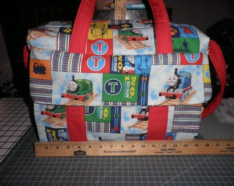 Diaper Bag with Changing Pad mad with Thomas the Train Fabric