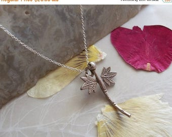 """ON SALE Thai Hill Tribe Silver Dragonfly Pendant on Delicate Sterling Chain Necklace ~ 18"""" Length"""