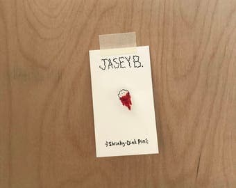 Booger With Blood Shrinky-Dink Pin