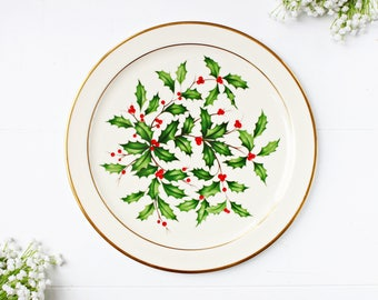 "Vintage Lenox ""Holiday"" Chop Plate | Lenox Holiday Round Platter, Christmas Serving Platter, Lenox Round Platter, Christmas Platter"