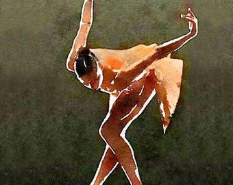 White Ballerina painting ballet painting ballet art Prima ballerina print figure painting oil painting Swan Lake Painting Ballerina Giclée