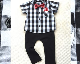 Baby Boy First Birthday Outfit, Birthday Boy, Black White Outfit Boy, Cute Outfit Baby, Boy Handmade Nice Outfit, Black Harem Pants