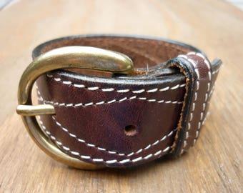 Leather Belt Buckle Cuff