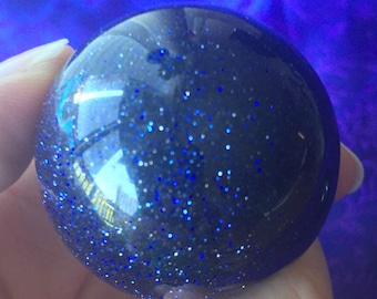 Blue Goldstone! Blue Goldstone Spheres! Deep Blue and Sparkly Sandstone! Make a Wish with these Deep Blue Spheres with Stars that Shine!