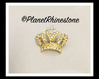 Crystal Rhinestone Crown Brooch #B-3