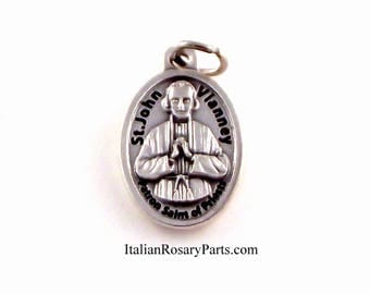 St John Vianney Medal Patron Saint of Priests | Italian Rosary Parts