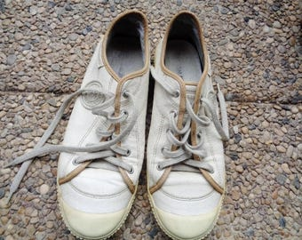 """Genuine leather shoes """"PATAUGAS"""" , French sneakers, size US 6.5 ,  women Sneakers,"""
