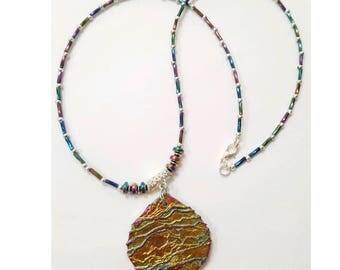 Rainbow druzy pendant necklace, titanium crystal agate necklace, rainbow crystal necklace, geode pendant necklace, rainbow crystal jewelry