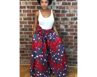Pants, wide leg, african Wide Leg pants