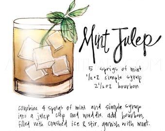 Mint Julep Drink Print
