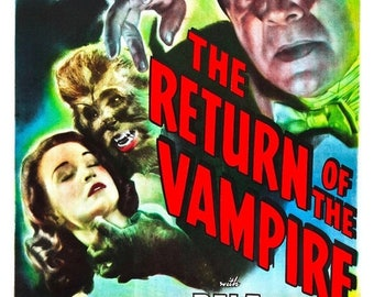 Back to School Sale: The Return of the Vampire (1944) Movie Poster Bela Lugosi