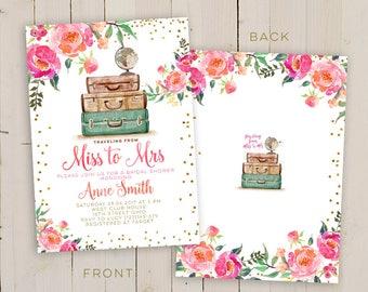 cheap bridal shower invite floral bridal shower invitation printable faux gold foil typography bridal