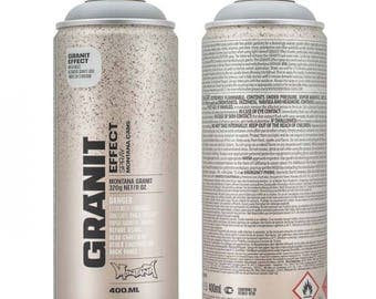 Spray paint effect granite - grey - Montana Can