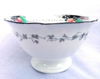 Shelley Bowl, Slops Bowl, 1926 Hand Painted Porcelain Stemmed Bowl, Gainsborough Shape, Pattern No 11472, Excellent Condition