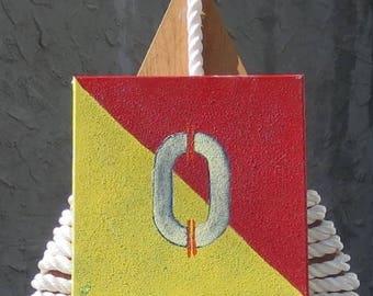 "Signal Flag ""O"" nautical print"