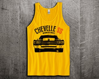 Chevy Chevelle SS Tank Top, Chevy t shirts, Chevy Chevelle shirts, cars tanks Car t shirts Muscle car t shirts Unisex Tank top Motomotiveink