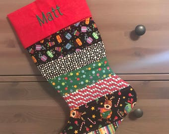 Personalized and Quilted Christmas Stocking