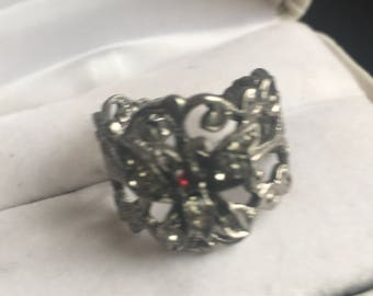 Vintage Filigree Butterfly  Ring
